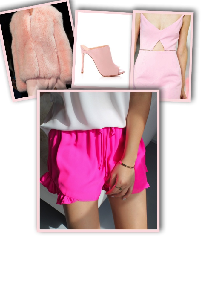 Today lets think pink. Hot pink, blush pink, rose pink, any shade of pink! A pink coat is a statement maker, it dresses up the outfit with a feminine touch. A pair of pink shoes, oo lala, they are a perfect addition to an ordinary outfit. A pair of hot pink shorts pops the look and catches an eye. The Vanity Room's hot pink shorts look best when paired with a simple top and a white or nude blazer. A little pink dress for a dinner date certainly makes you the center of attention, dress it up with some taupe eyeshadow and wing eyeliner. The VR pink shift dress with zippers is so versatile and easy to transition from day to night. Try our little pink romper with a flare trim with gladiator sandals and fun jewelry for a casual chic look. We are loving pink because just a touch sparks up any day! So remember onthis Friday, think pink! Because who doesn't look pretty in pink?