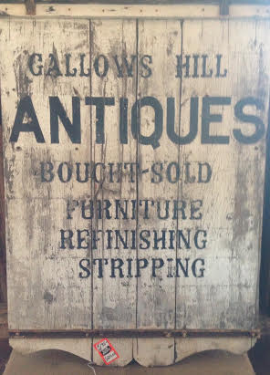 We love recycling beautiful antiques! Come see this sign revitalized!