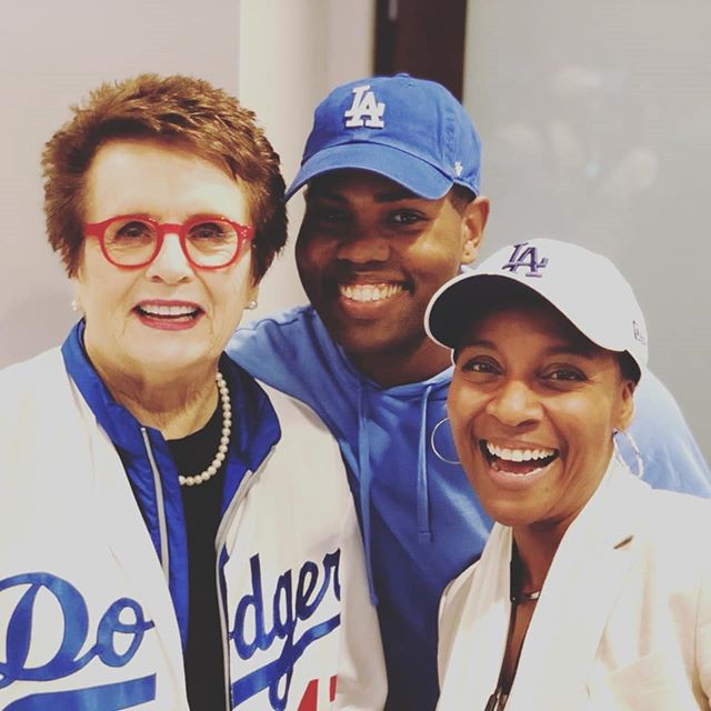 This has been one full week....Got to meet and speak with Billy Jean King in a Dodger Suite with new friends! If you get a chance try their chicken and waffles crazy delicious.