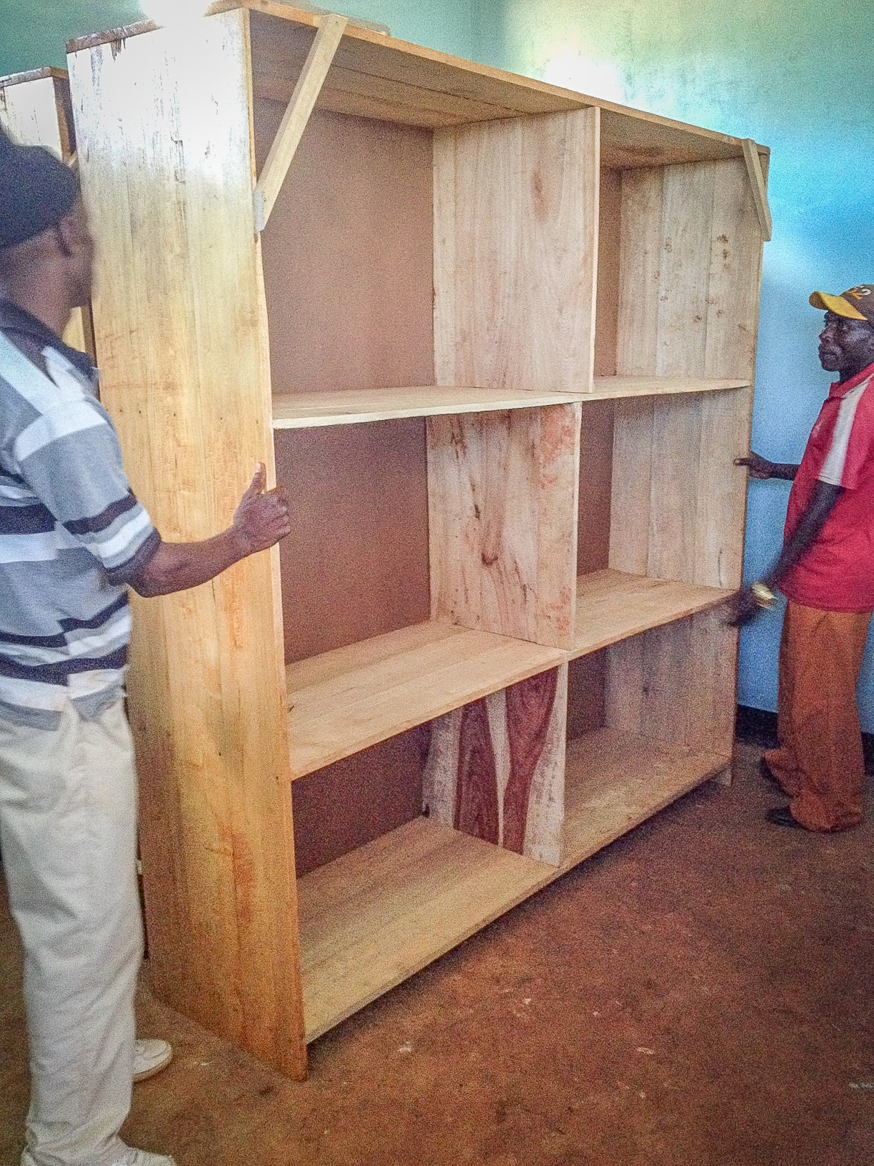 Bringing some shelving into the Multipurpose Building