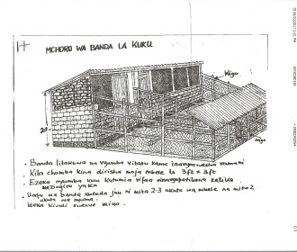 Rendering of the chicken coop. It will house 100 chickens and keep them protected from the wild animals in the area.