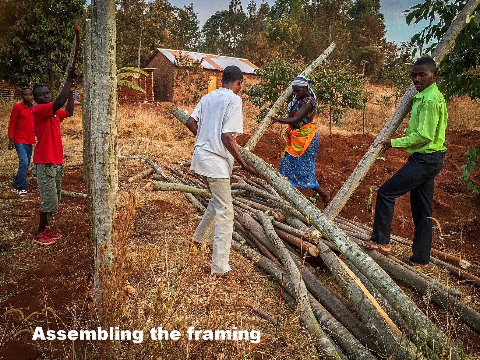 3. Frame timber being assembled.jpg