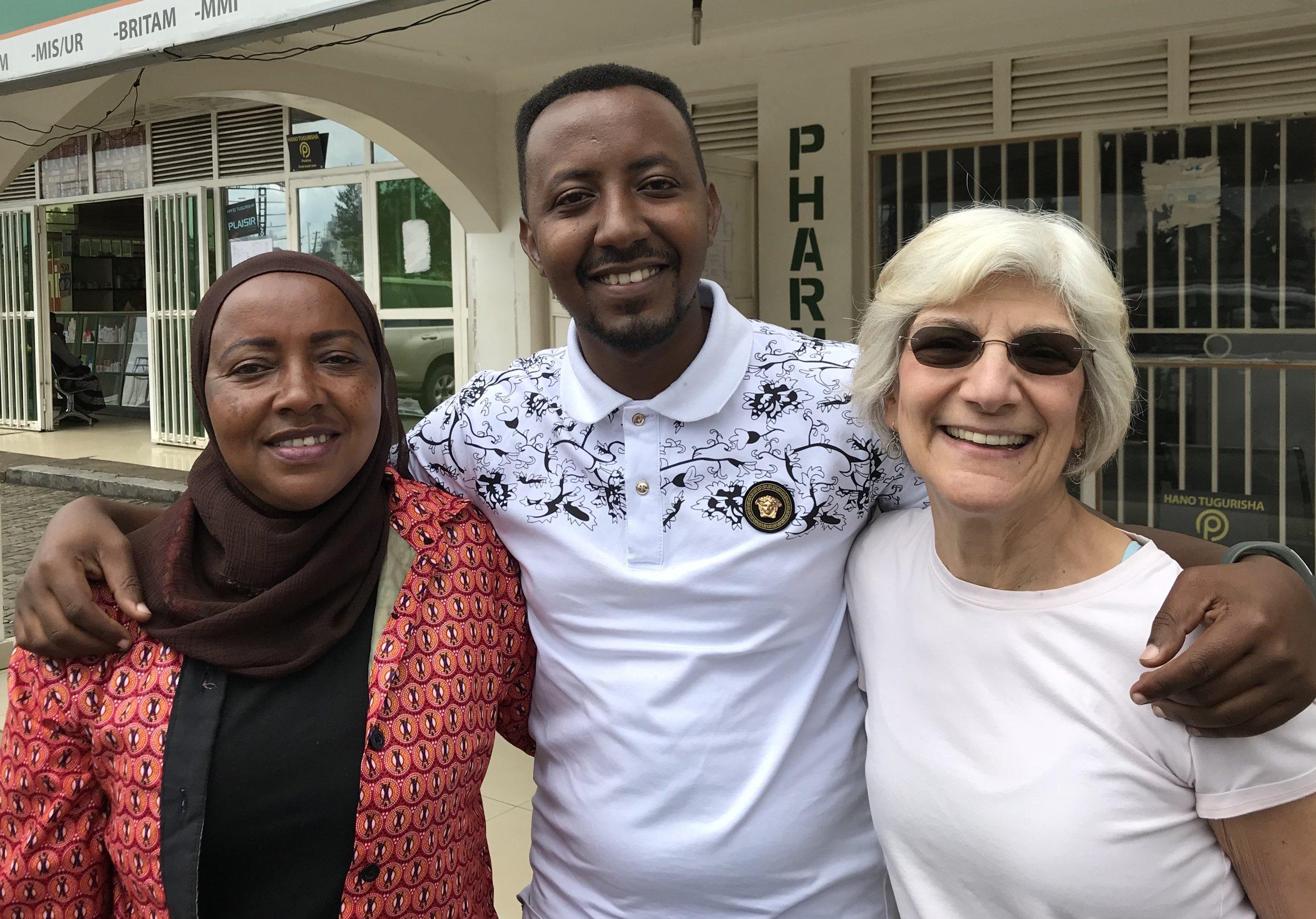 Johanna with Sadicky Rutayisire and his mother Kanyana