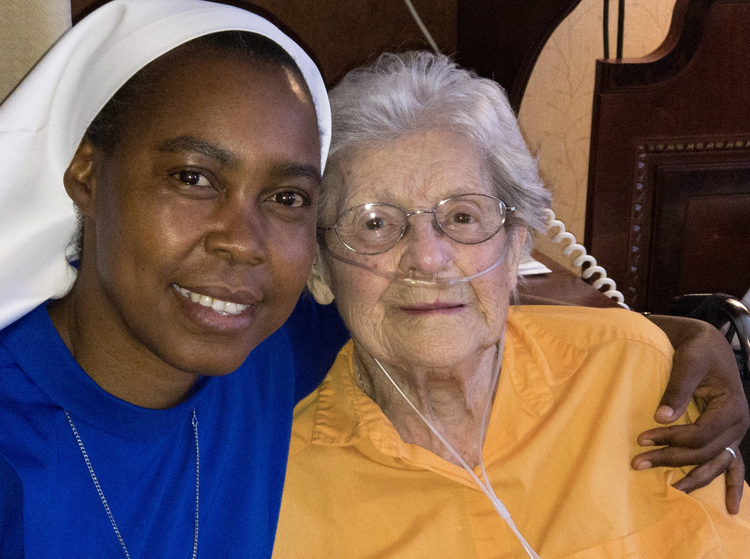 Sr. Dativa and Lucy, our oldest donor