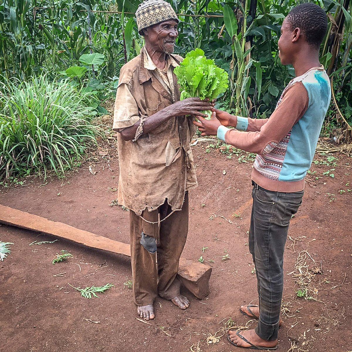 delivering vegetables to an elder.jpg