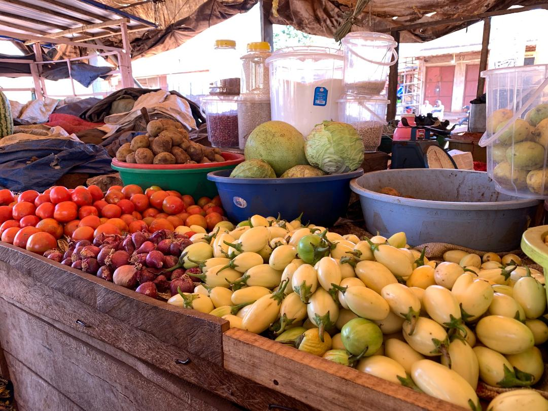 Some of the produce in the local market