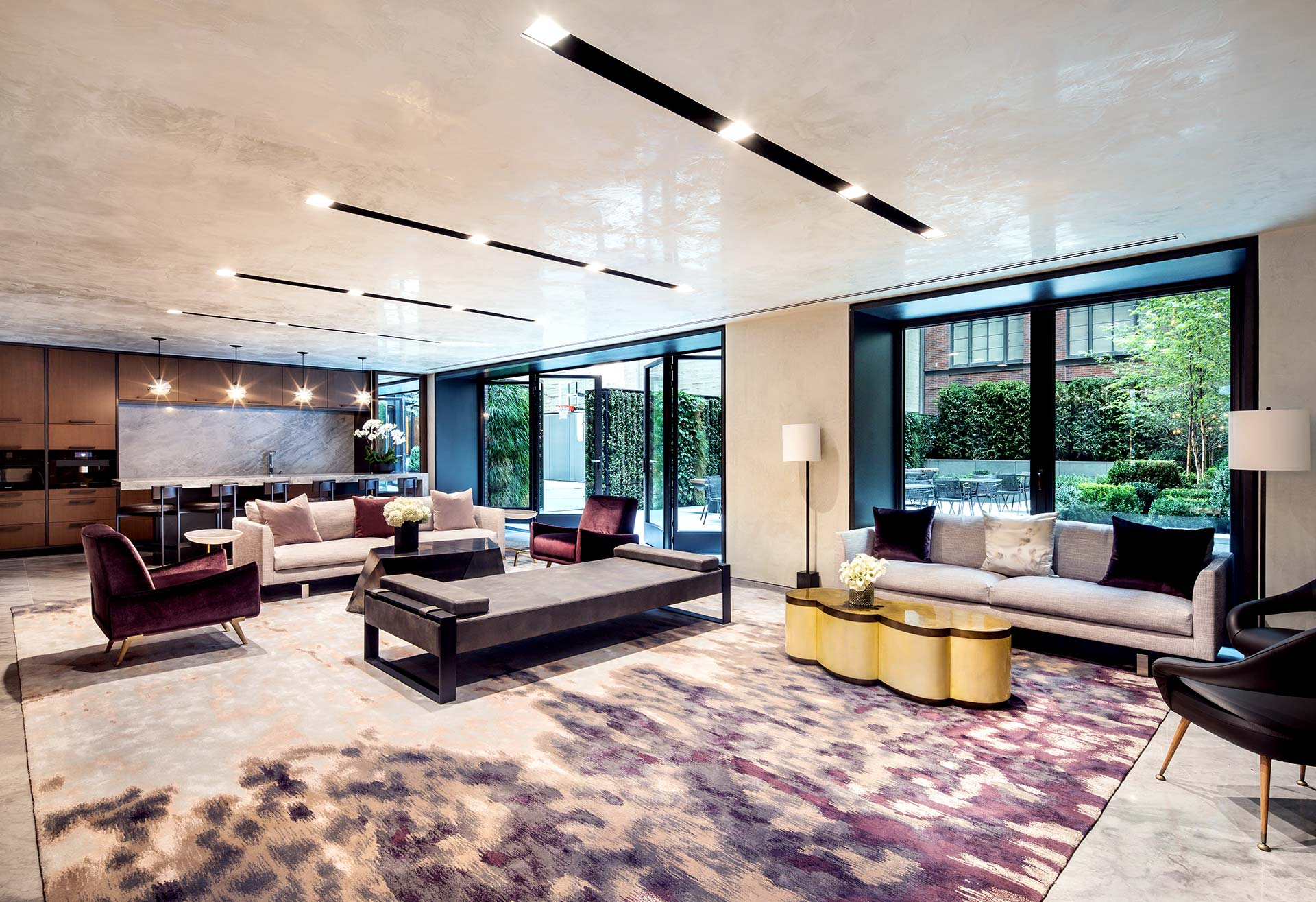 Indoor Lounge and Outdoor Basketball Court