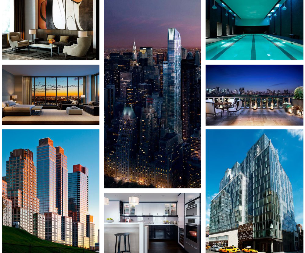 Extell Grid with multiple photographs of Buildings