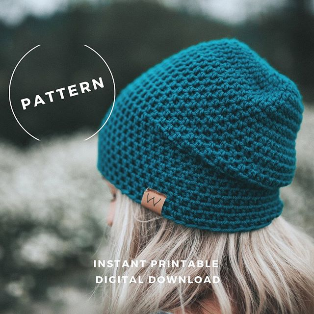 CROCHET PATTERN of our Classic Slouchy Beanie is now available online!!! (See link in bio)✨ . . Special SALE for this launch week only for $7 (goes up to $10 after the weekend). This is my very first pattern launch for @winterwooliesshop. I am so stoked for you to try your hand at making this classic beanie. Yes this pattern is a BEGINNERS pattern but previous crochet experience is necessary. . . I can't wait to hear from you guys to see what you think!! ✨
