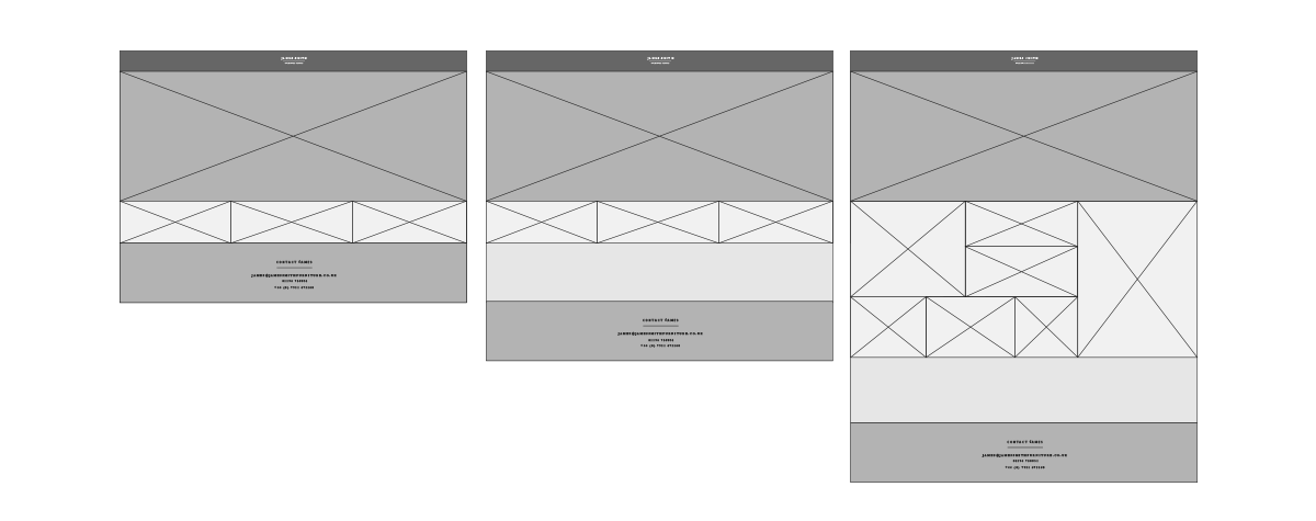 Wireframe concepts