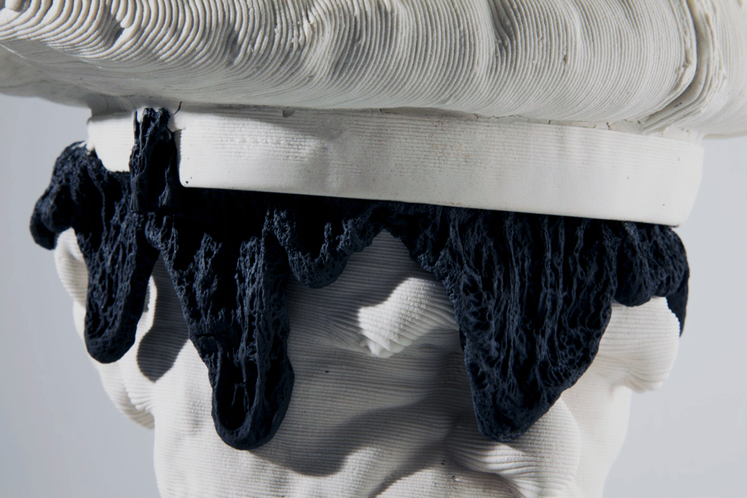 Empirical Pop Detail 2019  3d printed porcelain and nylon, steel  19.5in. h x 10in. w x 10in. d