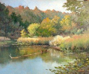 """Morning at Otter Pond"", 20x24"", oil on linen panel"