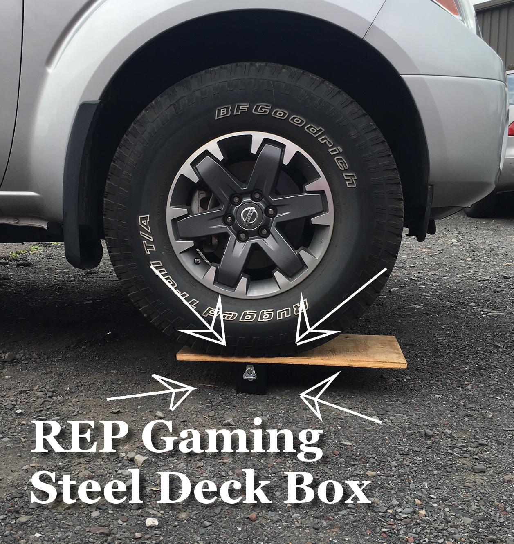 #StrongasSteel #SteelDeckBox Our Steel Deck Box is STRONG!