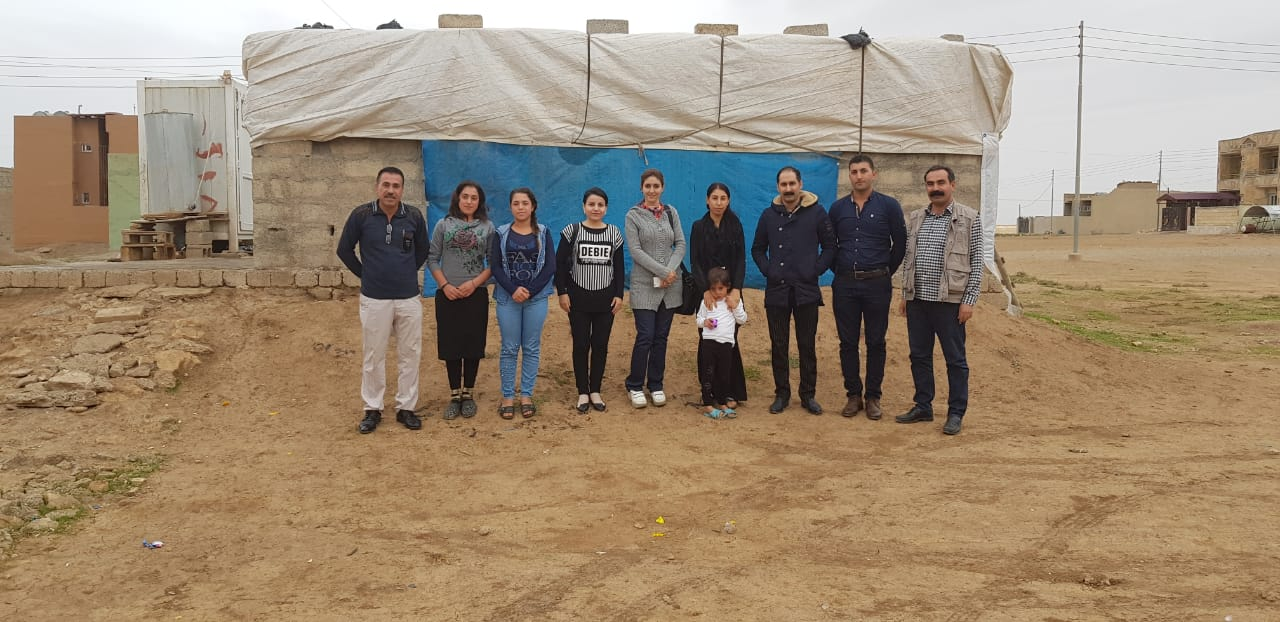University of Garmian researchers, Dr. Pegah Seidi and Nazdar Qudrat, visited a camp for internally displaced persons in Duhok, Iraq as part of an interdisciplinary project to understand gaps in care for mothers and children displaced by conflict.