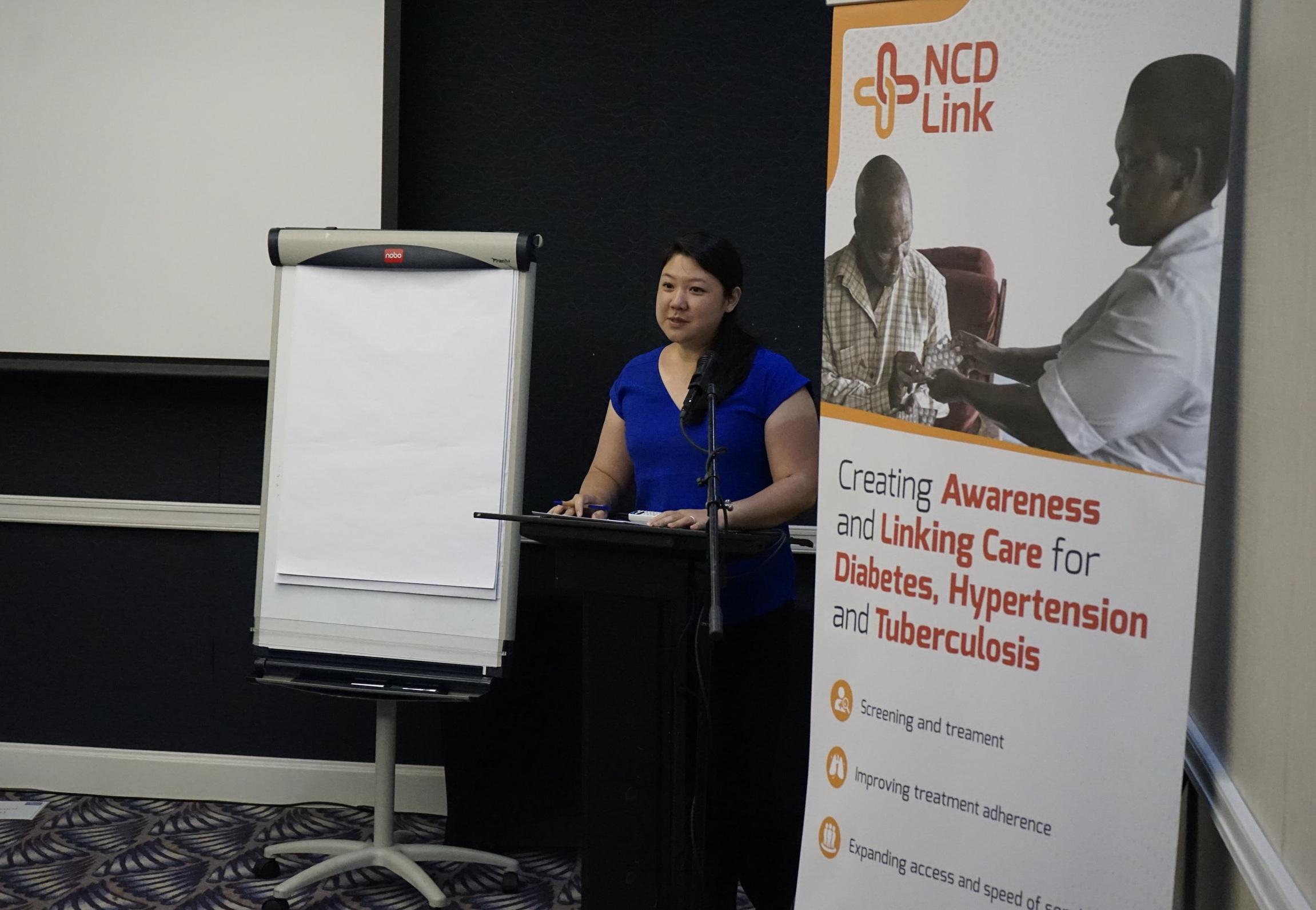 AA&D consultant Dr. Miranda Law presents on healthy eating and medication management at recent NCD-Link workshop