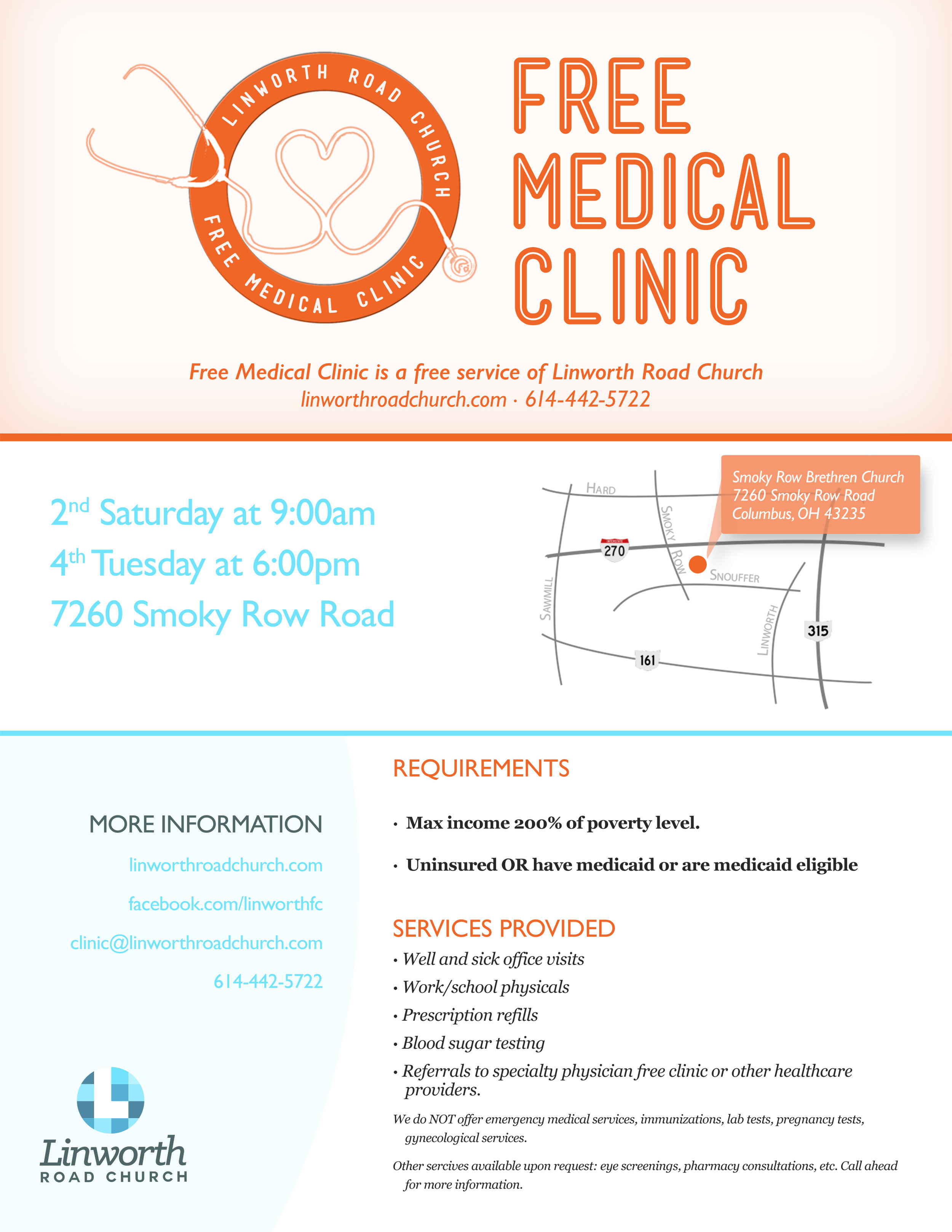 Linworth Road Church | Free Medical Clinic