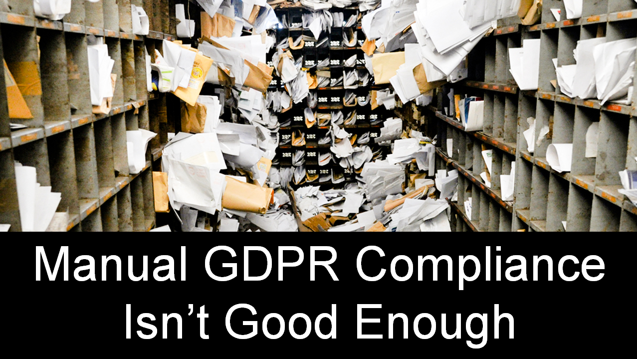 Manual GDPR compliance doesn't scale