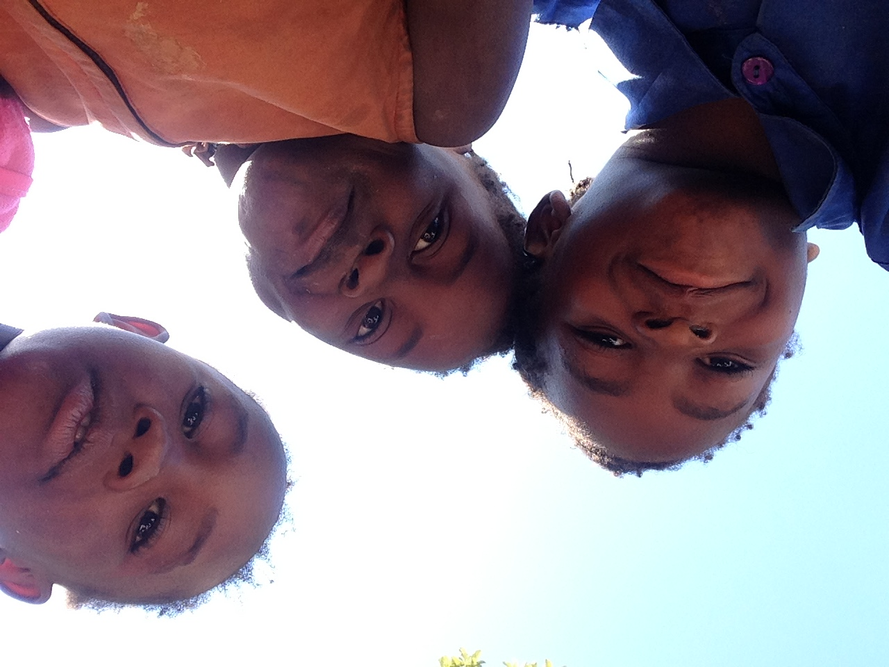 Kids playing with the camera
