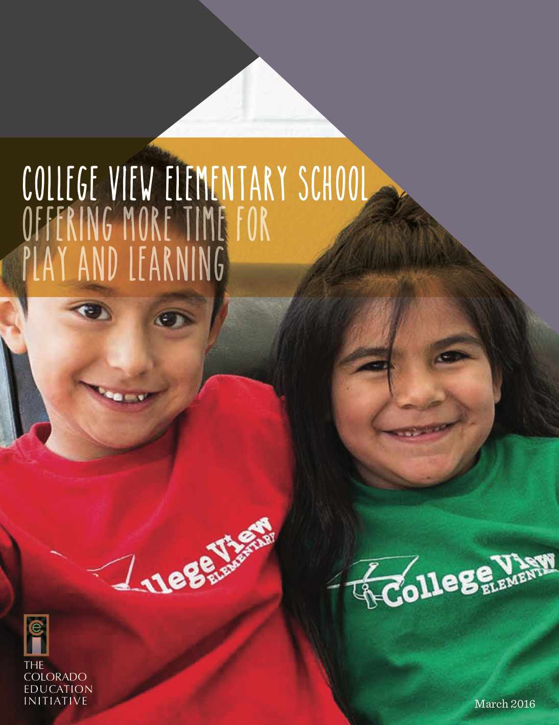 college view elementary school: offering more time for play and learning, march 2016