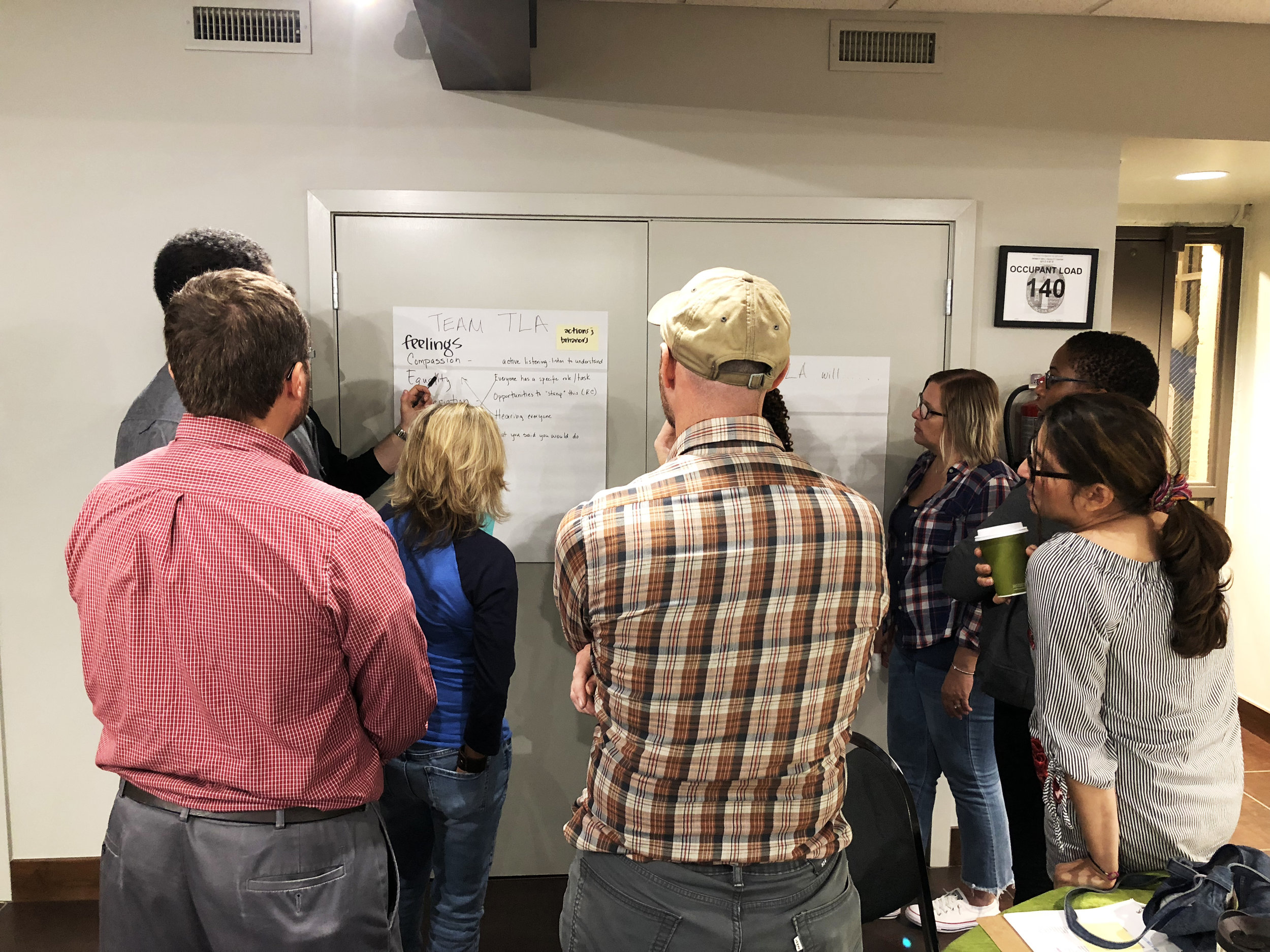 The Tulsa Beyond design teams engage in reflection and empathy to help inform the creation of their new school aspirations.