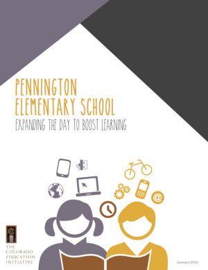 PENNINGTON ELEMENTARY SCHOOL: EXPANDING THE DAY TO BOOST LEARNING, JANUARY 2015