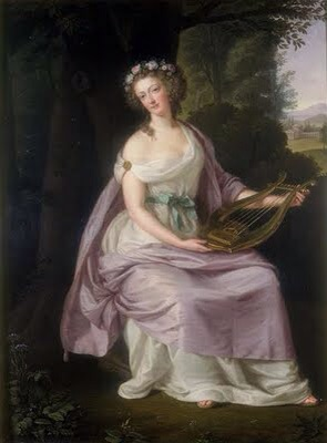 Queen Marie Antoinette posing as Erato in 1788 by Ludwig Guttenbrunn