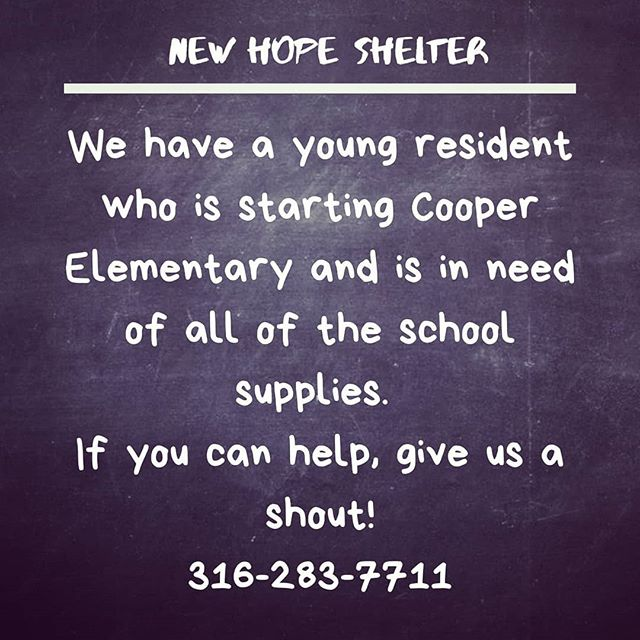 "We have a ""little person"" who needs your help! Contact us for a list of needed supplies. #newhopeshelterks #newtonkansas #harveycounty #marioncountyks #mcphersoncounty"