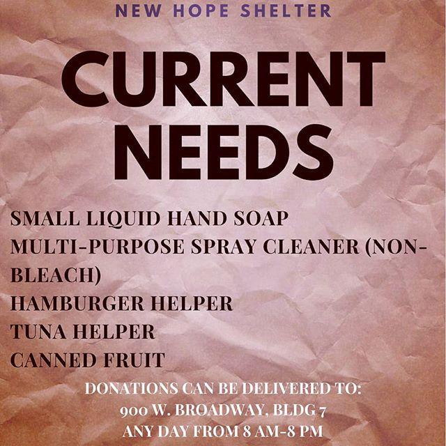 Here are most pressing needs! #newhopeshelterks #newtonkansas #harveycounty #marioncountyks #mcphersoncounty