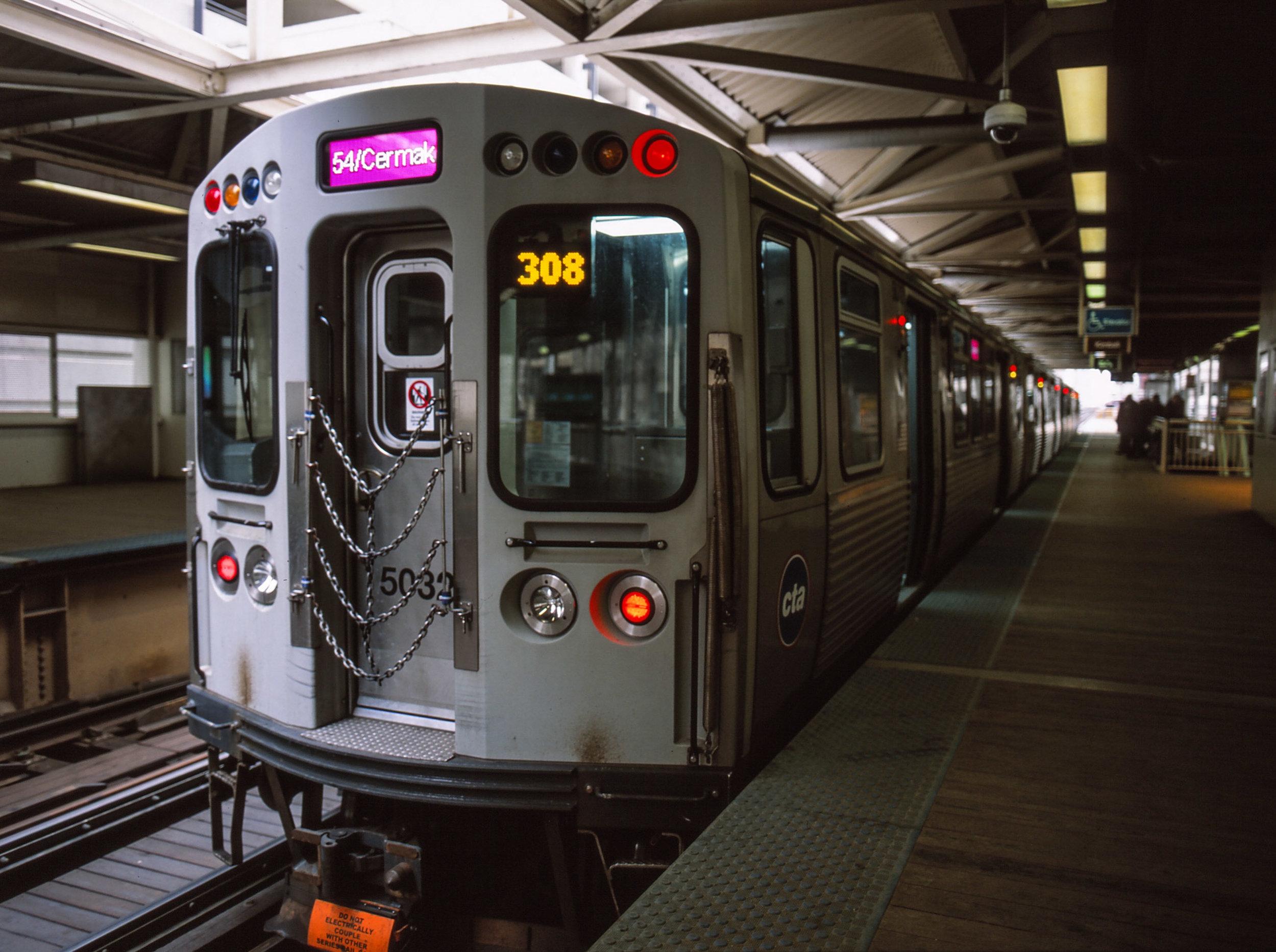 Mamiya - Provia 100F - Chicago L train.jpg