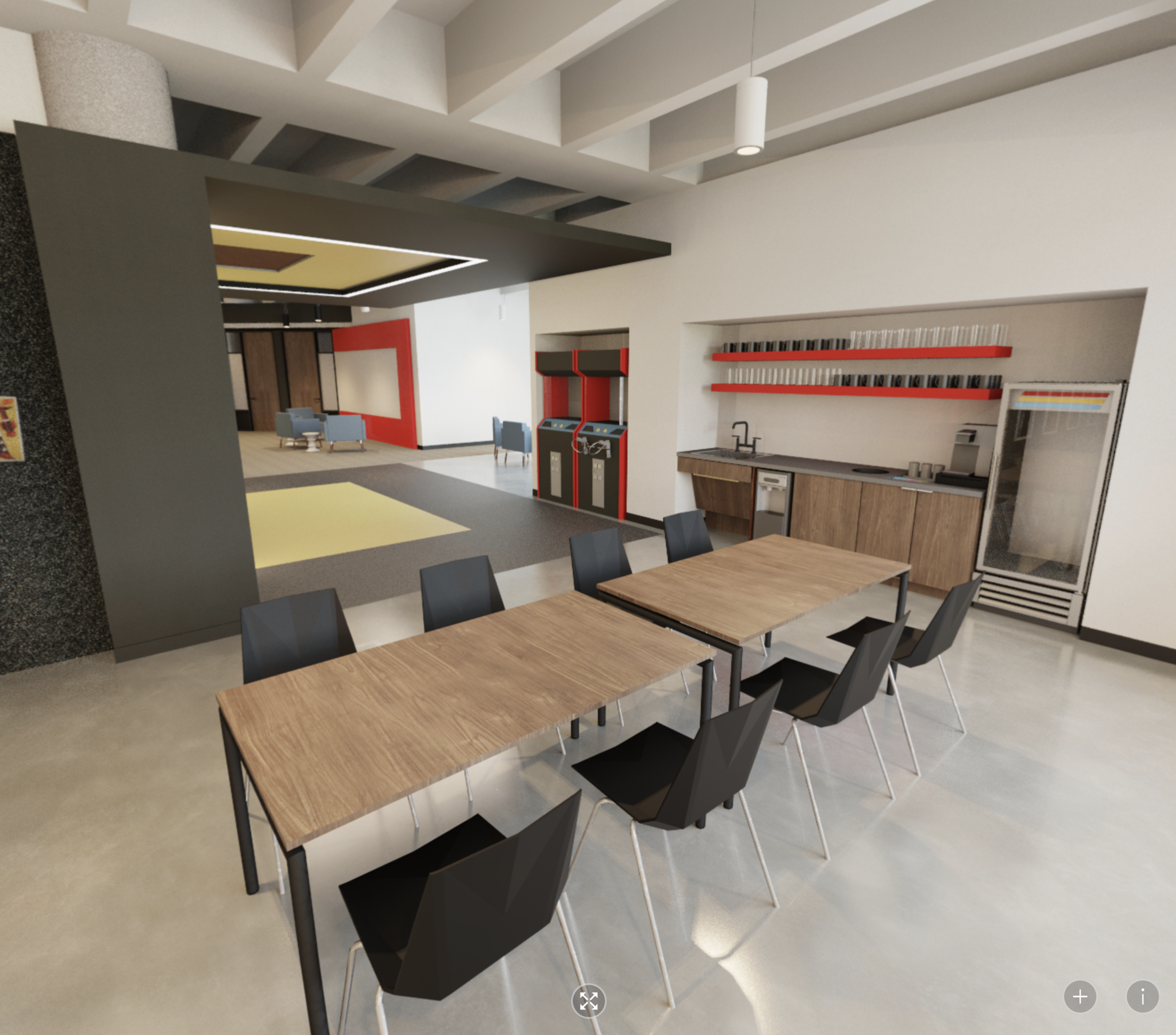 A still from a 360 panoramic image STG Design created for a client's new interior. Click on the image to play around in the immersive environment we created which is also adaptive to a cardboard VR viewer.