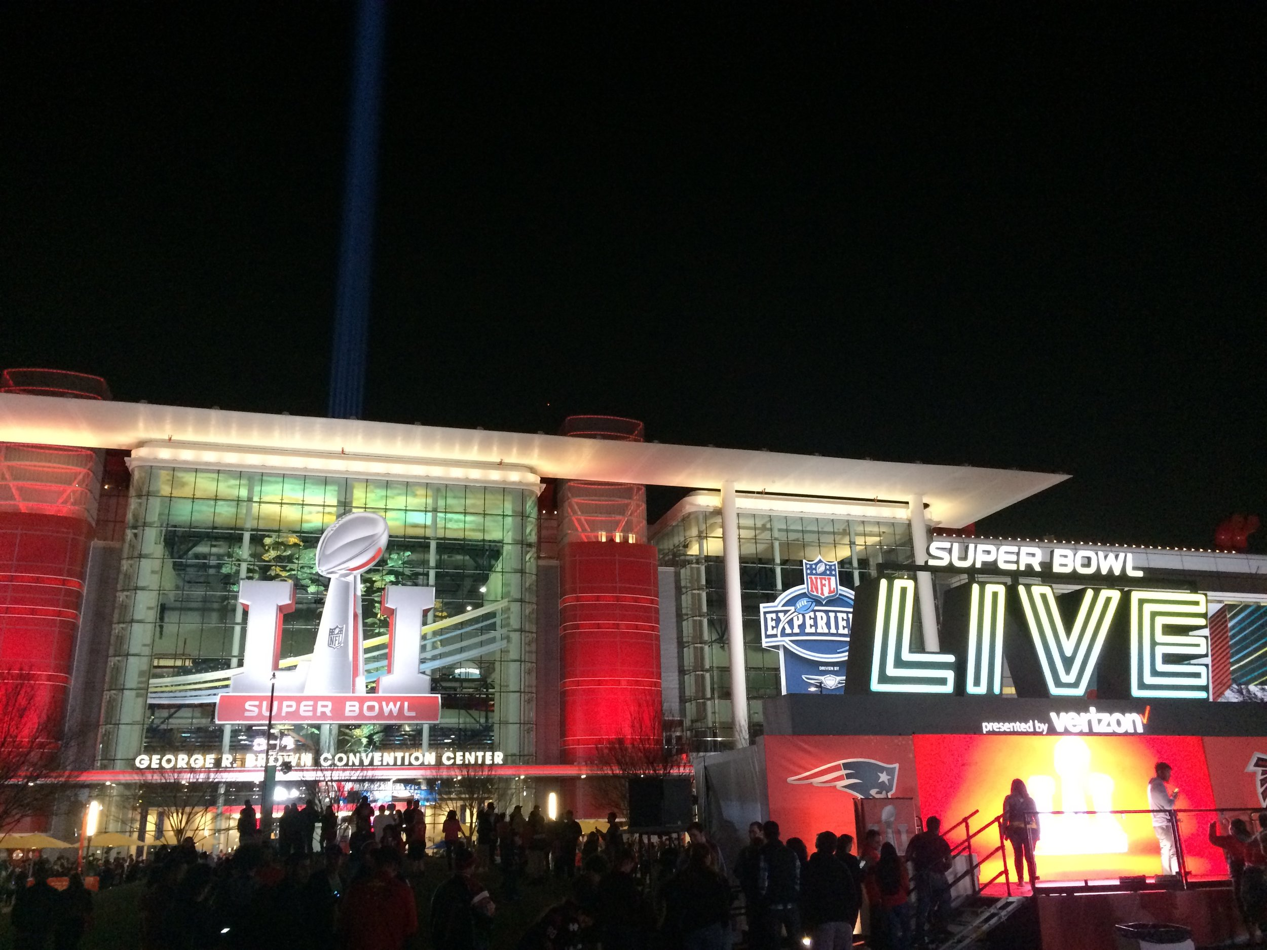 The Super Bowl LIVE! Experience is an interactive fan event taking place in front of the George R. Brown Convention Center the entire week leading up to Sunday's game.   Photo by Jenn LaPlante