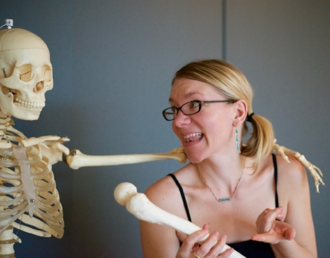 Ali and Skeleton.JPG