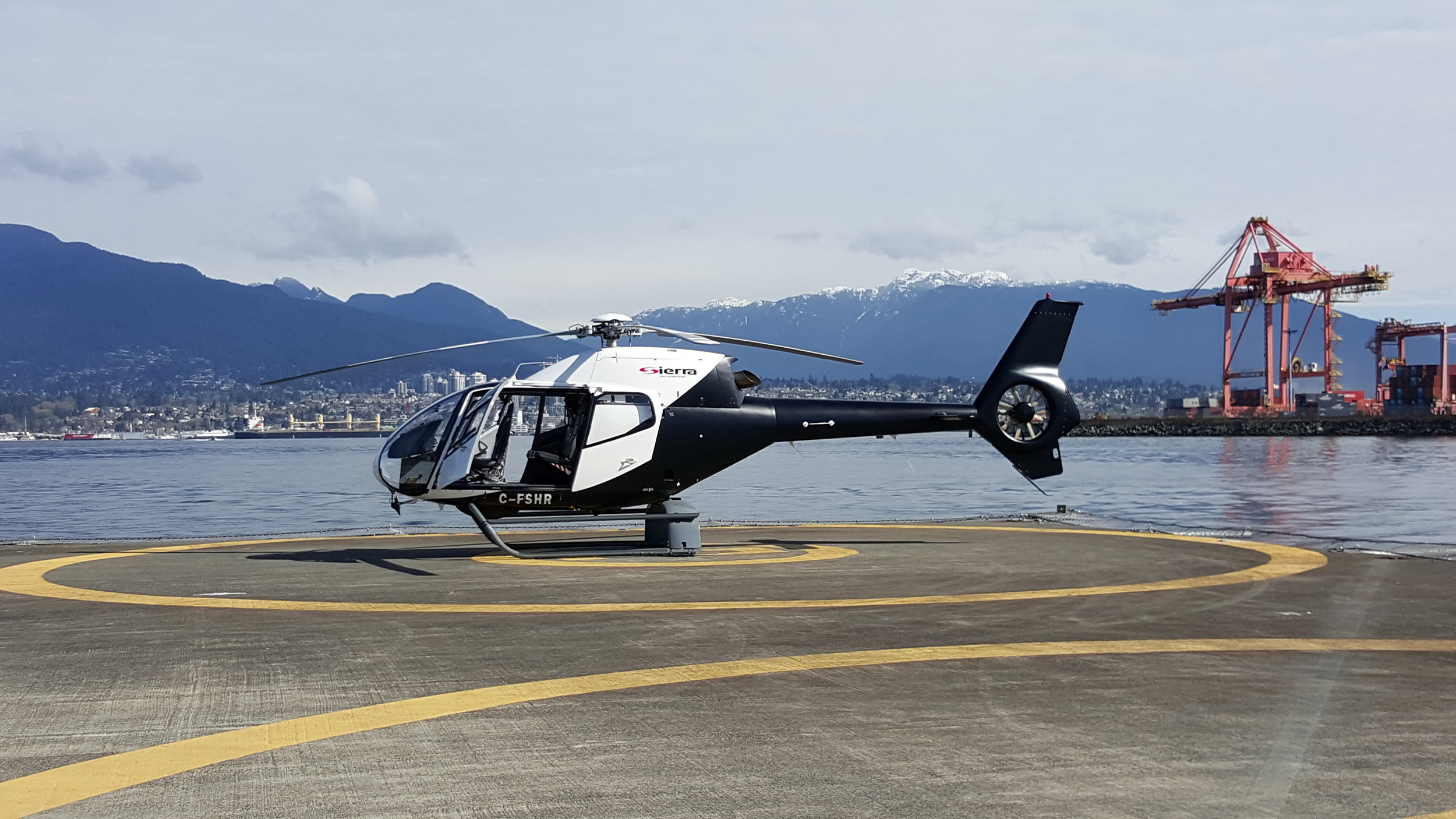 EC120 Helicopter at Vancouver Harbour