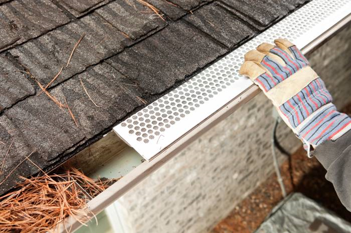 Gutter screens are easy — and cheaper —to install yourself. (Photo: iStock)