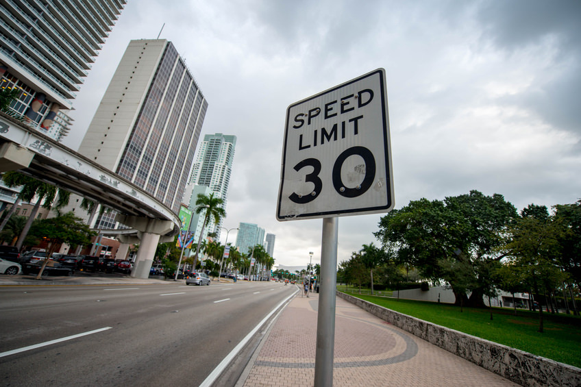 Speed limits are set on the time it takes the average human driver to perceive, react and safely halt a vehicle when presented with an obstruction. (Photo: iStock)