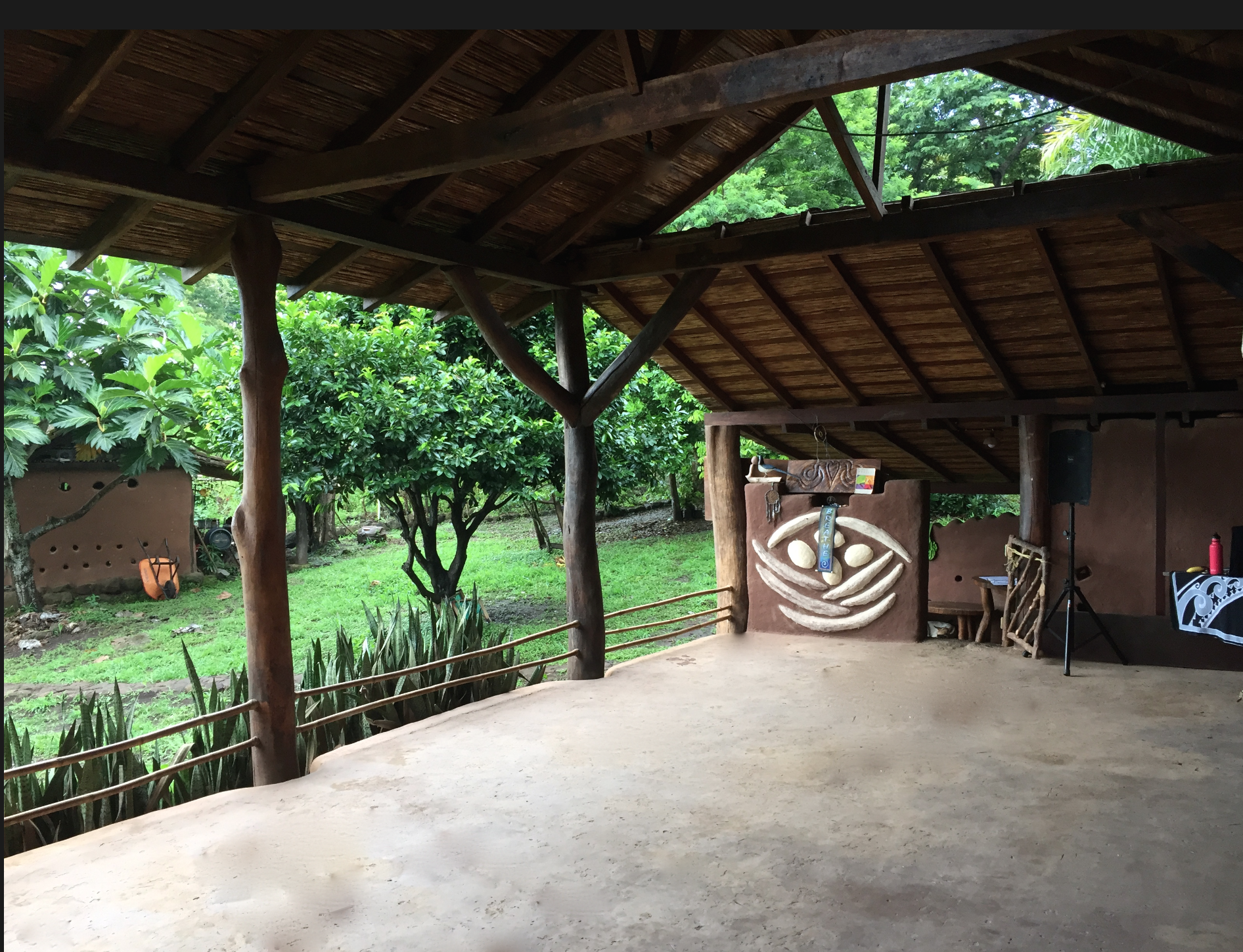 Our magical dance space connected to the lush tropical forest all around us!