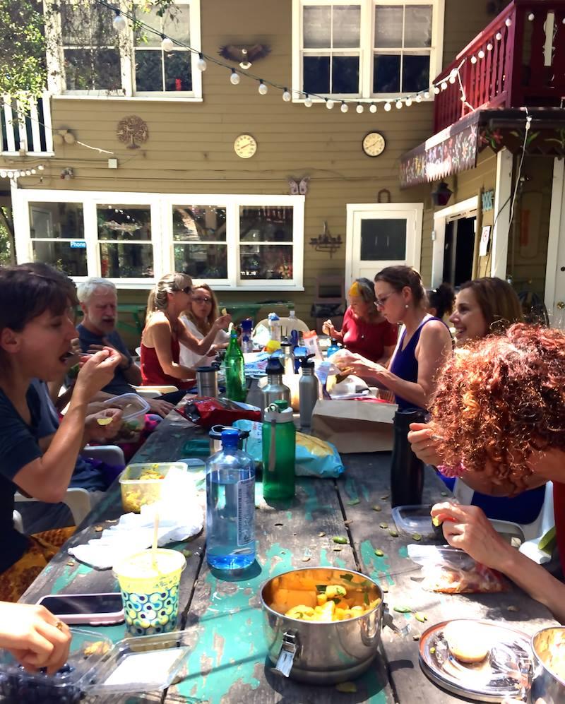 Lunch al fresco at Nature Friends LA
