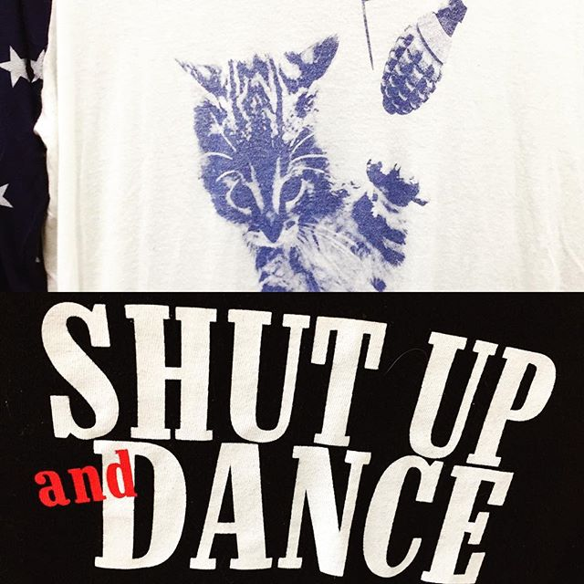 "When you know your #guardianangels have a wicked sense of humor and #tellitlikeitis This morning started out with some unfortunate turn of events, some Big Hopes dashed, so I took my broken heart about humanity out to do #retailtherapy in a #losangeles #thriftstore #messages from the Universe on used T-Shirts: ""Shut Up and Dance"" and a Cat Grenade... pissed off kitty!!! My angels made me laugh and remember what's what. THANK YOU! What signs are you receiving these days???!!! #signsfromtheuniverse #shutupanddance #catgrenade #listening"