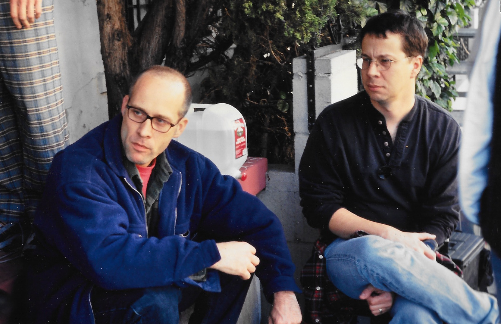 Eric Simonson with screenwriter, Rick Cleveland
