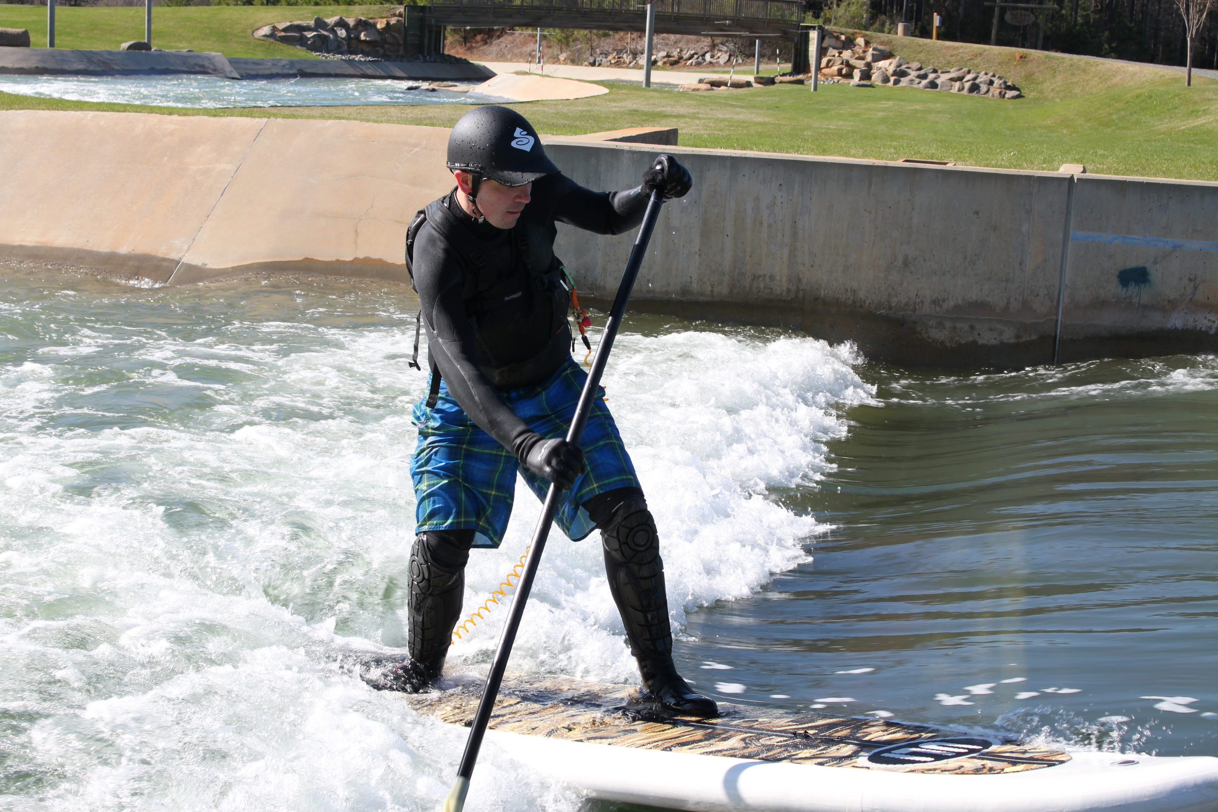 Andy May finding the sweet spot on Entrance Wave