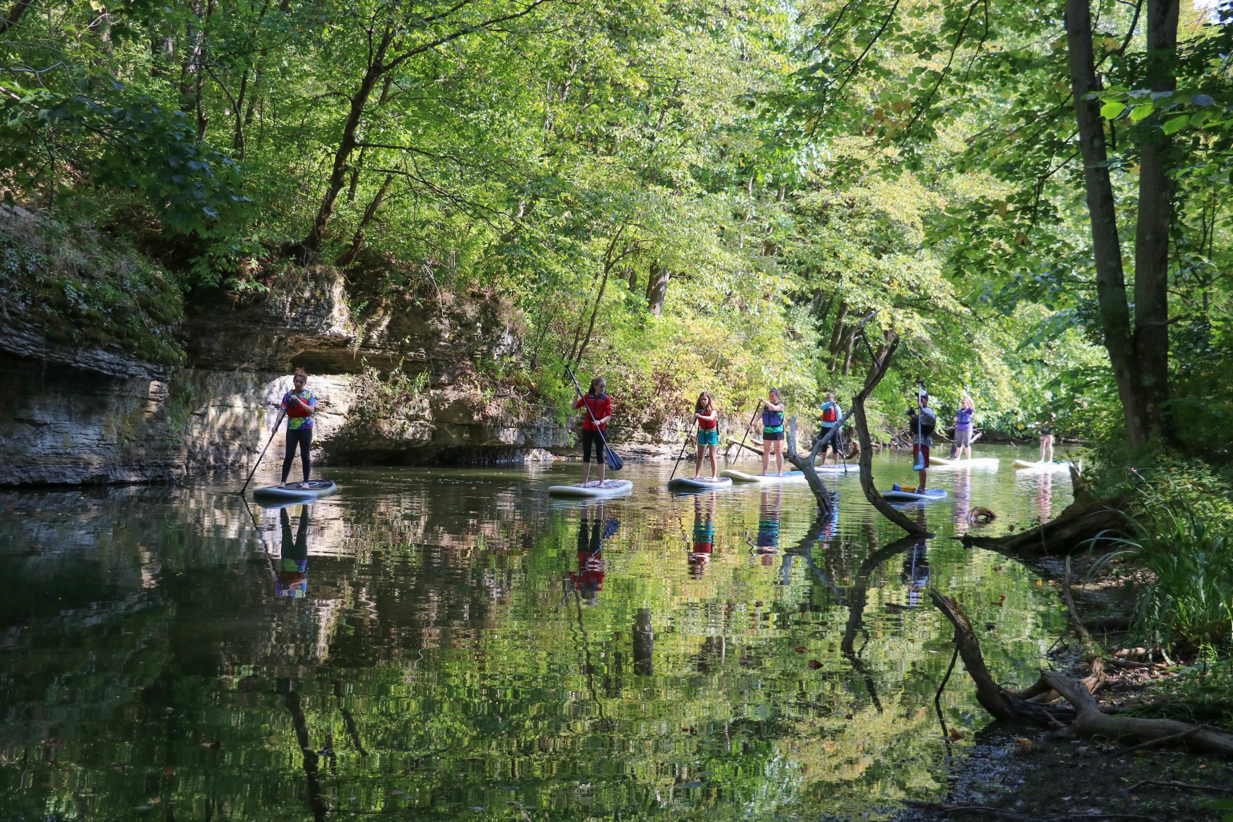 Moraine / Oakmont Eco-Tours - Our most popular offering our these Eco-Tours at Moraine State Park and the Islands of Oakmont! Perfect for first-time paddlers.