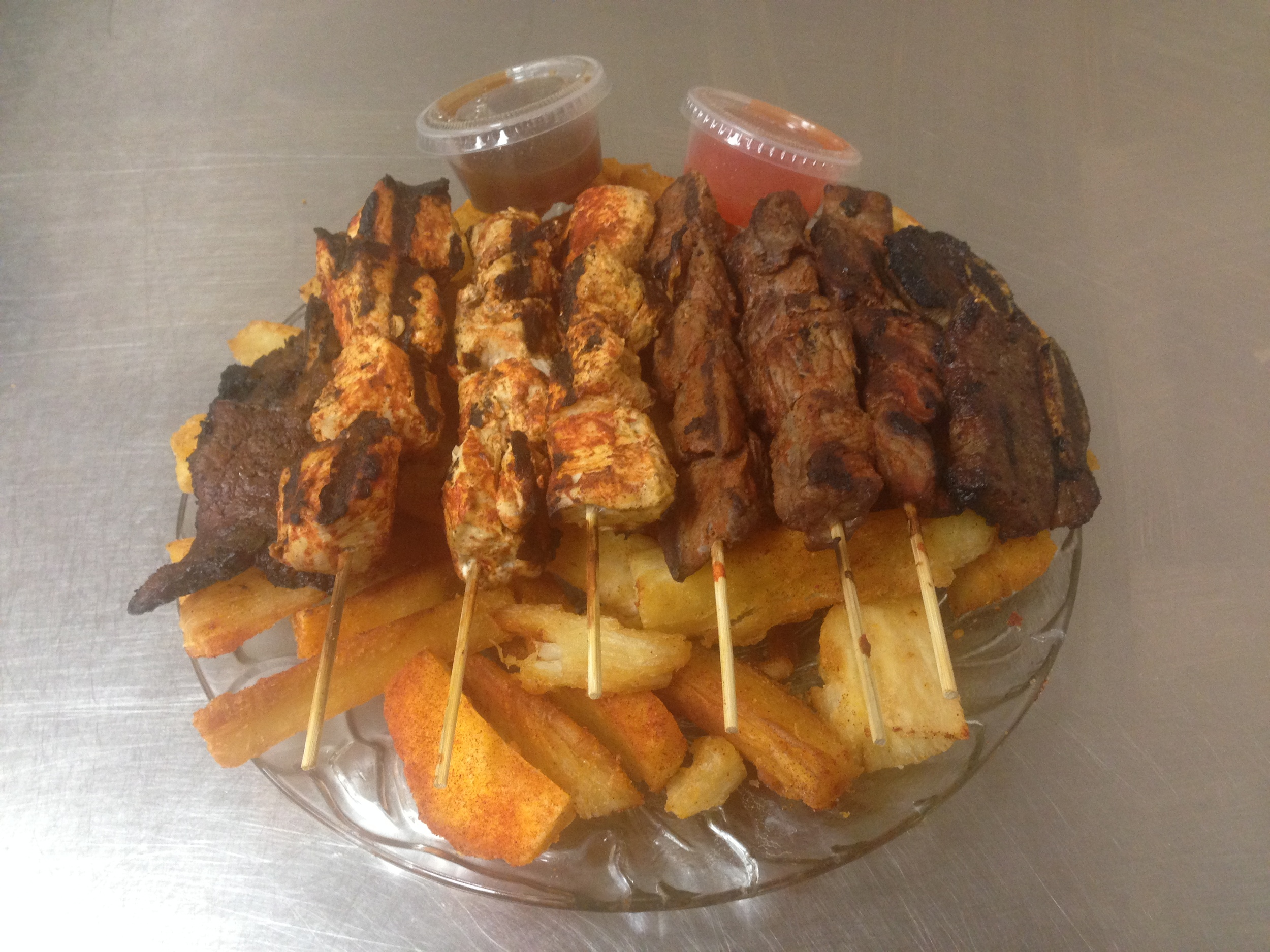 Grill Platter with Mogo - Skewers 1