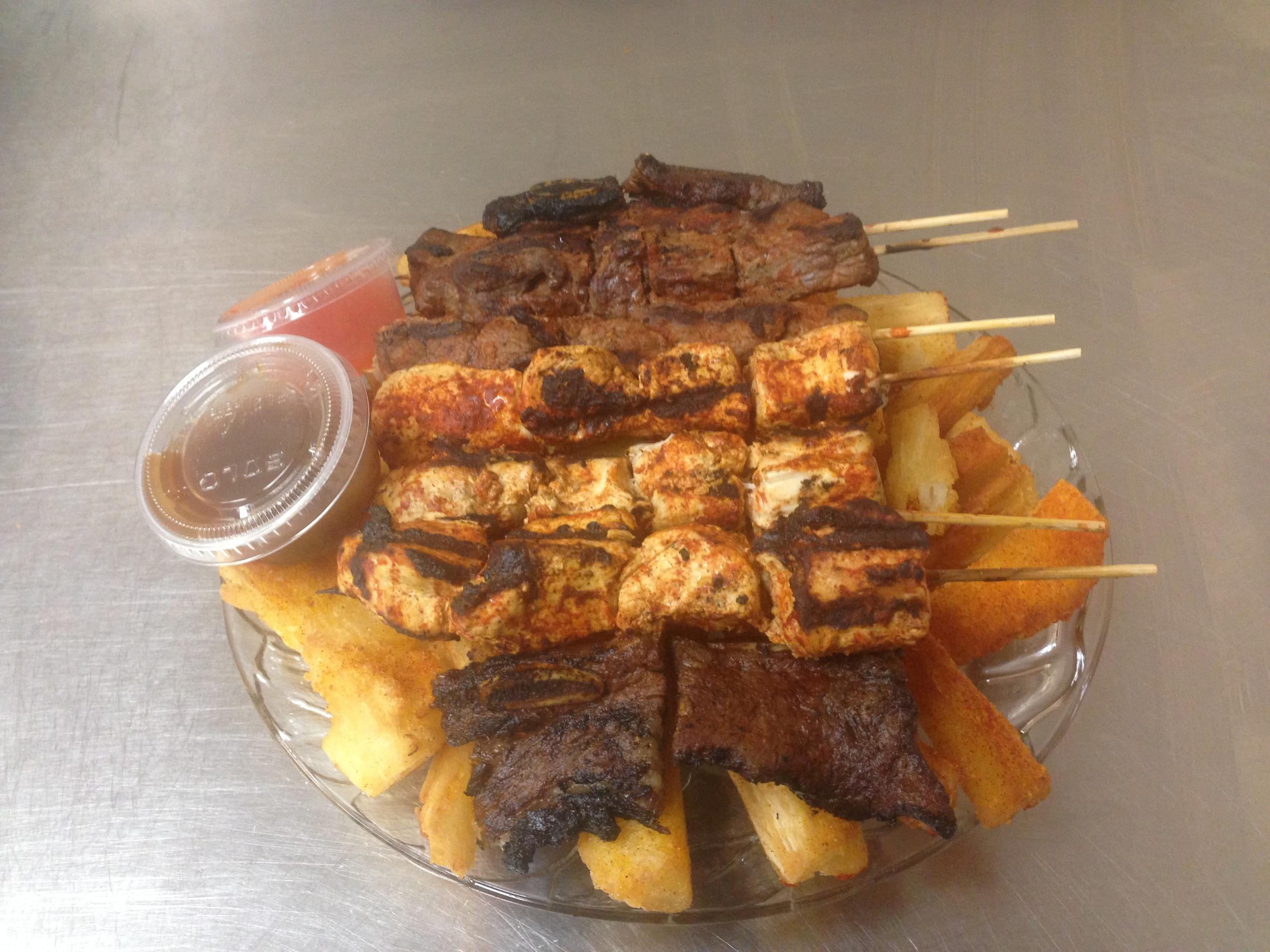 Grill Platter with Mogo  - Skewers 3