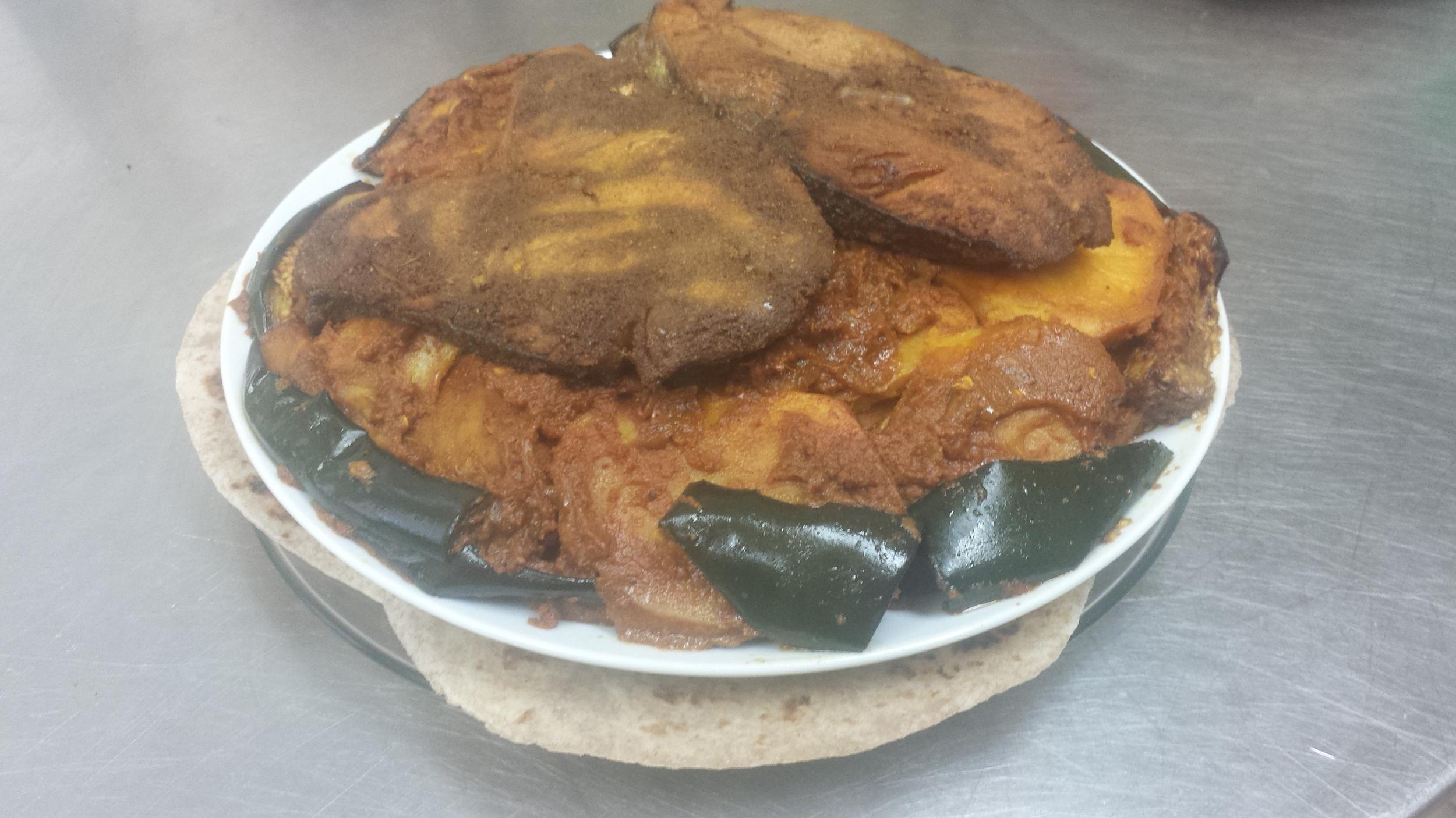 Masala Fish(2 Pcs), Potatoes and Rotli 2