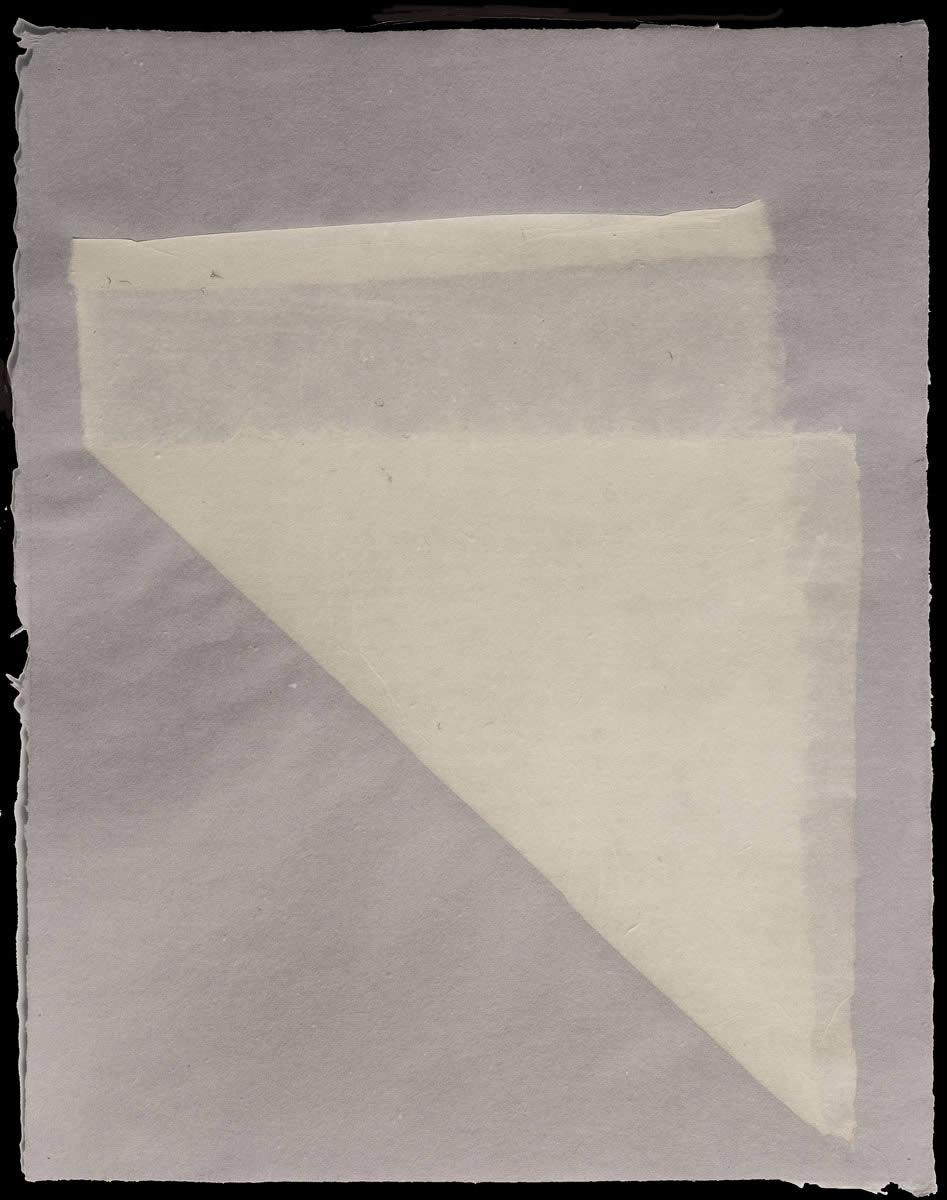 Origami, White on Violet 1