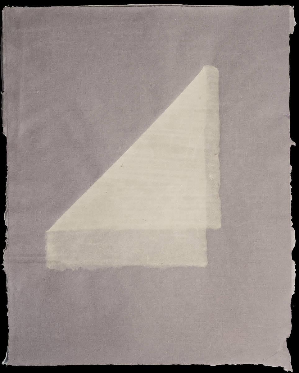 Origami, White on Violet 3