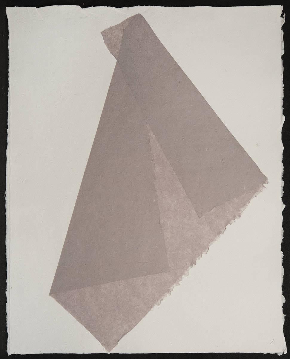 Origami, Violet on White 1