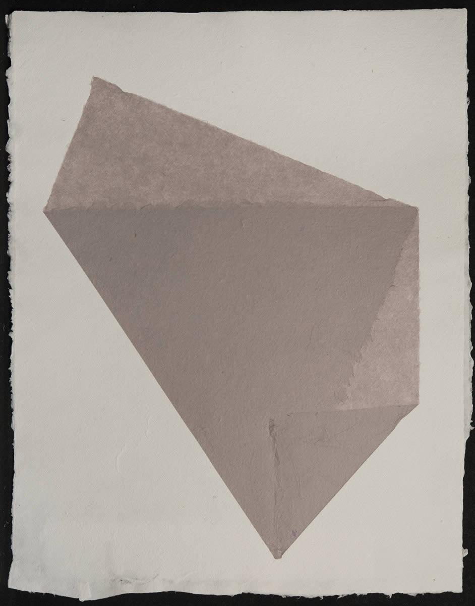 Origami, Violet on White 2