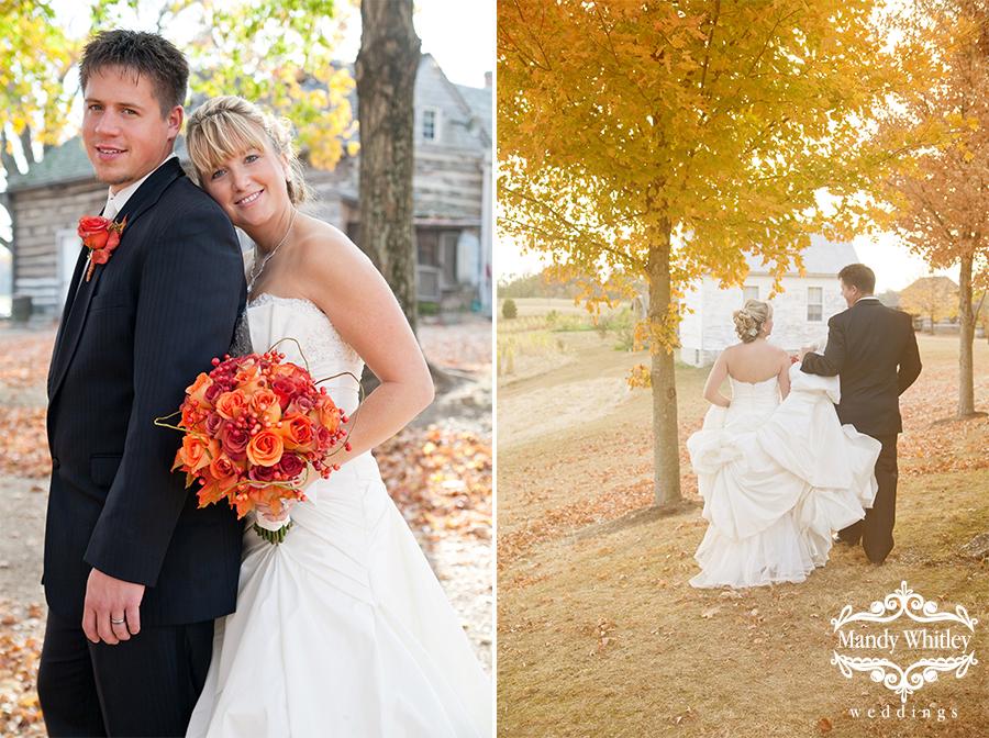 Fall Wedding   Missouri Wedding Photographer