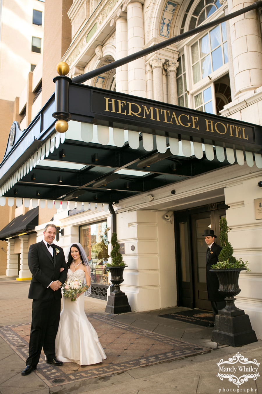 Nashville Wedding at the Hermitage Hotel by Mandy Whitley Photography